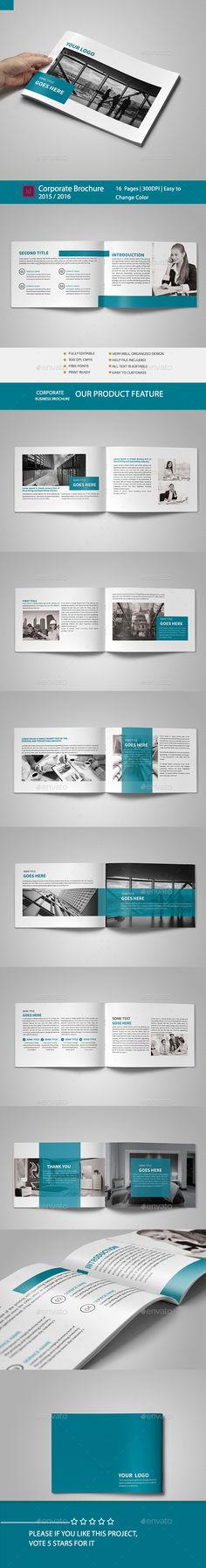 Corporate Brochure Template InDesign INDD. Download here: http://graphicriver.net/item/corporate-brochure-template/16396100?ref=ksioks