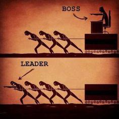 Leder viser vejen, bossen sætter dagsordnen