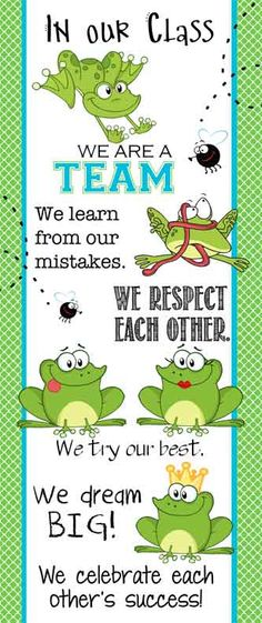 FROG Theme Classroom Decor/ Character Education Banner / Large / In Our Class… Frog Theme Preschool, Frog Theme Classroom, Frog Activities, Preschool Classroom Decor, Kindergarten Classroom, Classroom Organization, Classroom Banner, Classroom Ideas, Classroom Door