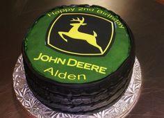 John Deere tractor tire cake