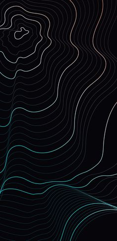 Waves on black background Iphone Wallpaper Photos, Abstract Iphone Wallpaper, Graphic Wallpaper, Wallpaper Backgrounds, Iphone Wallpapers, Black Background Wallpaper, Dark Wallpaper, Black Backgrounds, Church Graphic Design