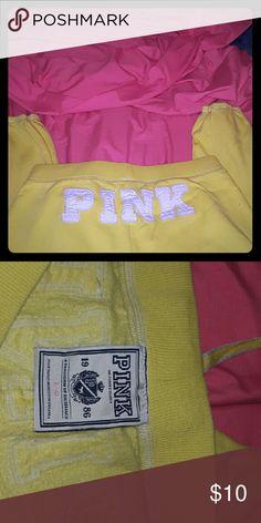 Pink yellow capris Victorias secret Pink capris Victoria's Secret Intimates & Sleepwear Pajamas