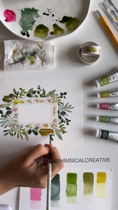 Simple Embroidery Designs, Hand Embroidery Patterns Free, Embroidery Flowers Pattern, Watercolor Flowers, Watercolor Paintings, Watercolors, Broderie Anglaise Fabric, Diy Broderie, Thread Painting