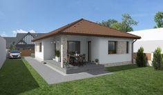 Village House Design, Village Houses, Modern Bungalow, Home Design Plans, Modern House Design, Exterior Design, My House, Gazebo, House Plans