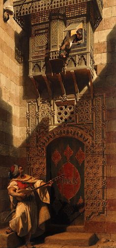 'A serenade in Cairo.' Artist Carl Haag 1820-1915 ---- gorgeous piece of art.
