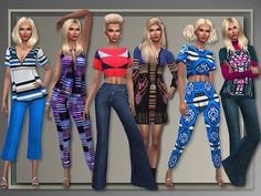 M.H. Style 2015/2016 outfit, tops and bottoms by Judie at All About Style via Sims 4 Updates