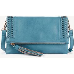 Sole Society Tara Clutch Vegan Whipstitch Clutch ($50) ❤ liked on Polyvore featuring bags, handbags, clutches, teal, faux leather purses, vegan leather purses, teal purse, teal handbag and vegan leather handbags