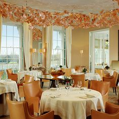 Coworth Park Ascot; England - Restaurant Coworth Park offers a modern take on classical British dishes such as Yorkshire Fettle cheese and Cornish red mullet with basil vinaigrette.