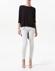 SWEATER WITH POINTED BACK - Knitwear - Woman - New collection - ZARA United States