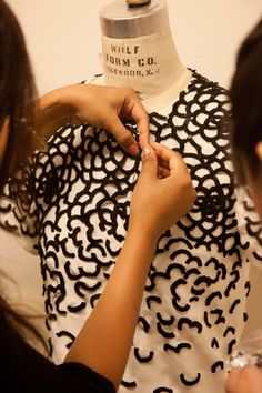 Fashion in the making - behind the scenes at Oscar de la Renta - fashion design; haute couture; fashion atelier