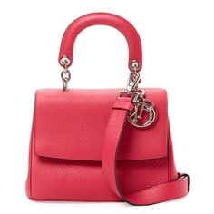 Dior Women's Be Dior Mini Leather Satchel - Red (46,015 MXN) ❤ liked on Polyvore featuring bags, handbags, red, leather handbags, mini satchel purse, red purse, leather purses and mini satchel handbags