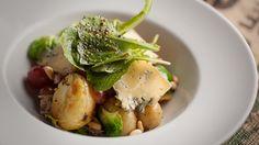 Salade tiède de porc effiloché et grelots