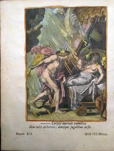 1676 Marolles Bloemaert Zeus and Semele Thunderbolts Mythology Engraving | eBay Mythology, Sculpture, Painting, Ebay, Art, Art Background, Painting Art, Kunst, Sculptures