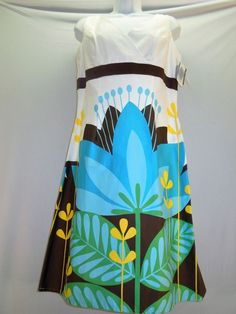 BEAUTIFUL Dress! Women Sz 10 #DBYLtd #ALine #Sleeveless #VNeck #Colorful #Geo   #Floral #WomensFashion #WomensDress