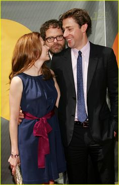 Jenna Fischer, Rainn Wilson, and John Krasinski