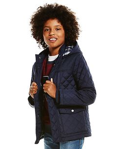 Hooded Quilted Coat with Stormwear™ (5-14 Years) | M&S