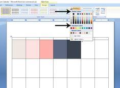 How to Create a Custom Calendar in Word - Calyx & Corolla Custom Calendar, Diy Calendar, Organizing Paperwork, Organization, Create A Calendar, Time Management, Bar Chart, Purpose, Words