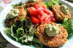 Red Lentil and Amaranth Protein Patties With Spicy Avocado Mayo [Vegan, Gluten-Free] | One Green Planet