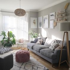 My living room, farrow & ball pavilion gray and Scandinavian inspired design, furniture from made.com, cox and cox, la redoute and sofa.com