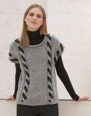 Revista mujer Concept 1 Otoño / Invierno | 8: Mujer Jersey | Gris claro / Gris oscuro