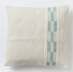 Diamond color stripe cushion cover - pale harbour for West Elm