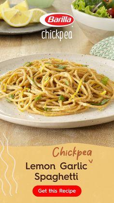 Spaghetti Recipes, Pasta Recipes, Dinner Recipes, Cooking Recipes, Barilla Recipes, Linguine Recipes, Dinner Ideas, Lemon Garlic Spaghetti, Classic Italian Dishes