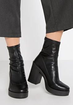 River Island - Bottines à talons hauts - black
