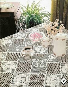 Page 1 of 3  Rose Tablecloth