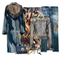 """""""Panning For Gold"""" by jacque-reid ❤ liked on Polyvore featuring Dries Van Noten, Yves Saint Laurent, Iosselliani, Vivienne Westwood, See by Chloé, Gucci and Armenta"""