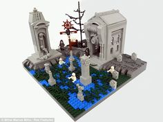 The 9 Circles of Hell done in Lego... (But, oddly, NONE of them are a carpet full of little plastic bricks)