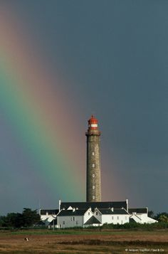 Goulphar Lighthouse. I always love seeing a rainbow. It's the reminder of God's love.