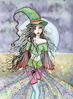 Molly Harrison White Moon - witch