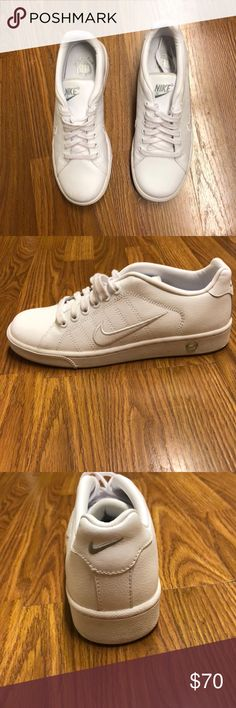 White Nike's Women's Nike's shoes like brand new! They have never been worn! Sold without box or lid. Size 8. Nike Shoes Sneakers