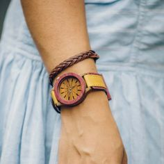 Halo Womens Wooden Watch - Handmade by Artisans in Colombia