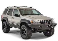 For extreme off-road use, there's nothing else like Bushwacker Cut-Out™ Fender Flares. Each set of Cut-Out™ Fender Flares is individually designed for your Jeep Grand Cherokee WJ, to maximize off-road wheel travel and maintain adequate tire coverage.