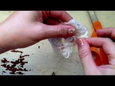 Tutoral How To Make A Lace Newborn Headband - YouTube