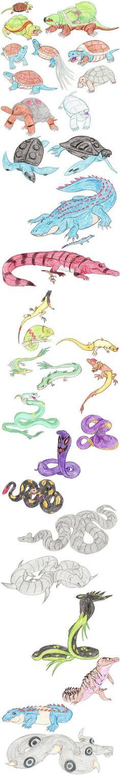 Reptilian Pokemon by DragonlordRynn