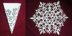 LOVE THESE PATTERNS! 12 Gorgeous Paper Snowflake Designs, perfect for celebrating When It Snows (Richard Collingridge)