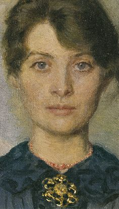 Marie and P.S. Krøyer - Double Self-Portrait of Marie and her Husband (1890) , detail