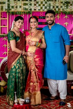 Exclusive Photos From Actress Suja Varunee's Gorgeous Baby Shower! Indian Baby Showers, Baby Shower Tags, Indian Silk Sarees, Kanjivaram Sarees, Bridal Blouse Designs, Half Saree, Wedding Looks, Shiva, Lehenga