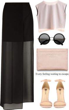 """maxi skirt"" by soygabbie ❤ liked on Polyvore"