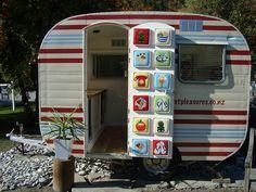 vintage camper trailer glamping