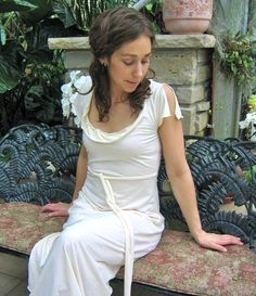 Bamboo Flutter Gown by consciousclothing on Etsy