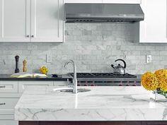 Perfect New Statuario Quartz Kitchen Countertop
