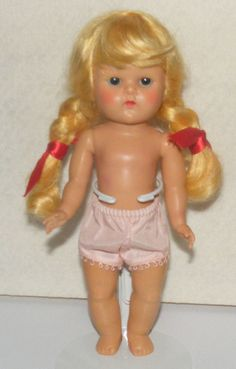 Vintage 1950s Vogue Strung Ginny Doll --Blond #Dolls