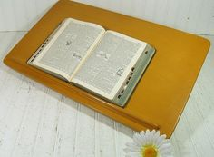 Mid Century Wooden Table Top Rotating Book Podium  by DivineOrders, $75.00