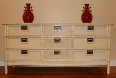 Vintage Faux Bamboo Credenza  $475 - midlothian http://furnishly.com/vintage-faux-bamboo-credenza.html