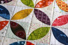 A Little Bit Biased: Orange Peel Mini Quilt and a Quilt Along! Perhaps make it raw edge?