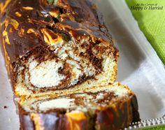Eggless Rustic Vanilla & Chocolate Marble Loaf Cake Slice