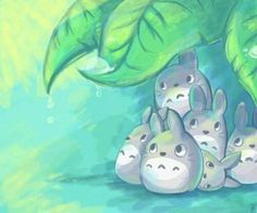 Chibi totoro under a leaf! Hayao Miyazaki, Studio Ghibli Art, Studio Ghibli Movies, Chibi, Japan Kultur, Film Animation Japonais, Anime Studio, Manga Anime, Anime Art